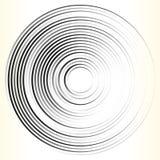 Геометрический элемент круга Абстрактная monochrome форма круга иллюстрация штока