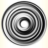 Геометрический элемент круга Абстрактная monochrome форма круга Стоковые Изображения RF