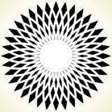 Геометрический элемент круга - круговая картина на белизне Стоковые Фотографии RF