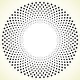Геометрический элемент круга - круговая картина на белизне Стоковые Изображения