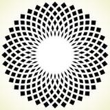 Геометрический элемент круга - круговая картина на белизне Стоковая Фотография RF