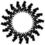 Геометрический элемент круга Круговой график с геометрическими линиями Стоковые Фото