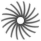Геометрический элемент круга Круговой график с геометрическими линиями Стоковые Изображения RF