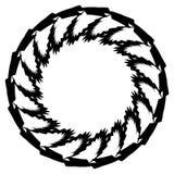 Геометрический элемент круга Круговой график с геометрическими линиями Стоковые Изображения