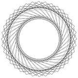 Геометрический элемент круга, нервная мотива круга случайная, угловая линия иллюстрация вектора