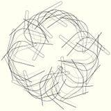 Геометрический элемент круга, нервная мотива круга случайная, угловая линия бесплатная иллюстрация