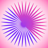 Геометрический элемент круга радиальных линий Разрывать линии сливать иллюстрация штока