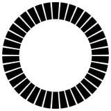 Геометрический элемент круга сделанный излучать прямоугольники Аннотация бесплатная иллюстрация