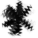 Геометрический элемент круга сделанный перекрывать нервные формы иллюстрация штока