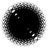 Геометрический элемент круга сделанный перекрывать нервные формы Abstra иллюстрация штока