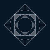 Геометрический элемент, круг и квадрат Стоковые Изображения
