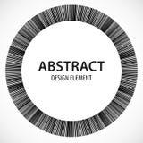 Геометрический элемент сделанный линий Абстрактное monochrome isola формы Стоковое Фото