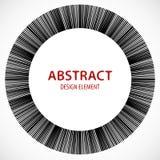 Геометрический элемент сделанный линий Абстрактное monochrome isola формы Стоковые Изображения