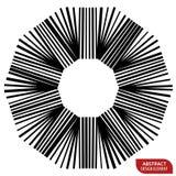 Геометрический элемент сделанный линий Абстрактное monochrome isola формы Стоковое Изображение RF