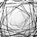 Геометрический элемент случайных хаотических квадратов абстрактный Monochrome ge иллюстрация штока