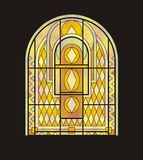 геометрическим окно запятнанное стеклом Стоковая Фотография RF