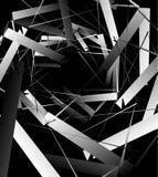 Геометрическое абстрактное искусство Нервная, угловая грубая текстура Monochrome, иллюстрация штока