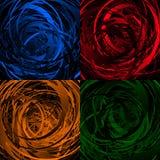 Геометрическое абстрактное искусство с случайными скачками спиралями Стоковые Изображения