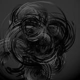 Геометрическое абстрактное искусство с случайными скачками спиралями Стоковое Изображение