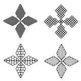 Геометрическое 4 звезды иллюстрация вектора