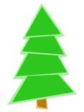 Геометрическое зеленое дерево Стоковое Изображение