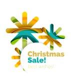 Геометрическое знамя объявления продажи или продвижения рождества Стоковое Изображение RF