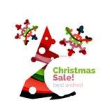 Геометрическое знамя объявления продажи или продвижения рождества Стоковое Фото