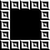 Геометрическое изображение, рамка фото в squarish формате Стоковое Изображение