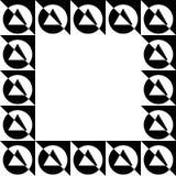 Геометрическое изображение, рамка фото в squarish формате иллюстрация штока
