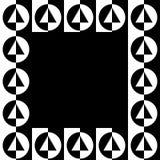 Геометрическое изображение, рамка фото в squarish формате иллюстрация вектора