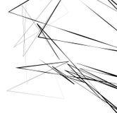 Геометрическое искусство с случайными, хаотическими линиями Абстрактный monochrome il Стоковые Изображения RF