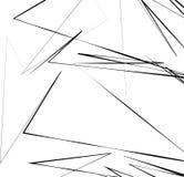 Геометрическое искусство с случайными, хаотическими линиями Абстрактный monochrome il Стоковые Изображения