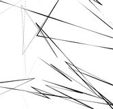 Геометрическое искусство с случайными, хаотическими линиями Абстрактный monochrome il Стоковое Изображение RF