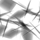 Геометрическое искусство с случайными, хаотическими линиями Абстрактный monochrome il Стоковое Фото
