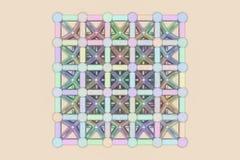 Геометрическое конспекта виртуальное, сфера стиля молекулы блокировать concepture Обои для графического дизайна E бесплатная иллюстрация