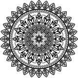геометрическое круга флористическое Стоковое фото RF