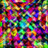 Геометрическое полигонов психоделическое яркое абстрактное Стоковые Фотографии RF
