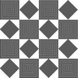 Геометрическое черно-белое квадратное повторение иллюстрация вектора