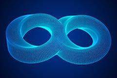 Геометрия безграничности кольца прокладки Mobius священная иллюстрация штока