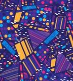 Геометрия безшовной картины вектора красочная стоковое фото rf