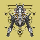 Геометрия могущественных anubis священная бесплатная иллюстрация