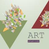 Геометрия плаката абстрактная Стоковая Фотография RF