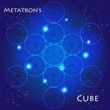 геометрия священнейшая Иллюстрация куба Metatron Стоковое Фото