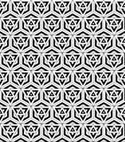 Геометрия черно-белой безшовной картины священная бесплатная иллюстрация