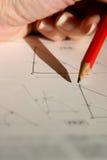 геометрия чертежа Стоковые Изображения RF
