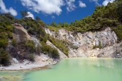 геотермическая новая страна чудес zealand wai tapu o Стоковые Изображения