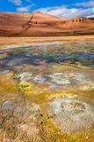 Геотермическая область, Исландия Стоковые Фотографии RF