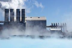 геотермическая сила завода Стоковая Фотография