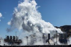геотермическая сила завода Стоковые Фотографии RF