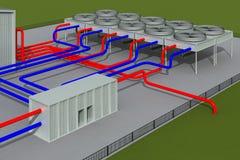 геотермическая система Стоковые Изображения RF